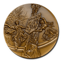 Customized Medals - Bronze Finishing on 3D Relief