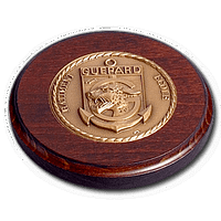 Wooden Panel - Bronze Medal on a Round Panel - 120mm