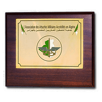 Wooden Panel - Plate in Photo Etched Brass on a Rectangular Wooden Panel