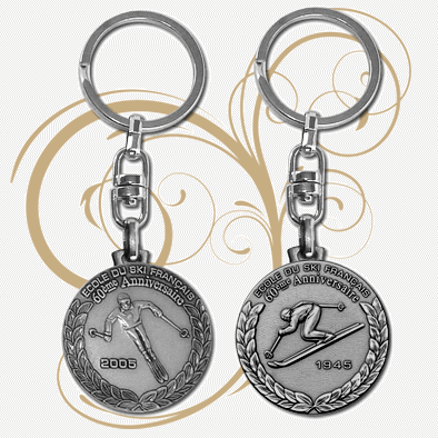 FIA - Keychains - Stamped Coin Design (Face & Back)