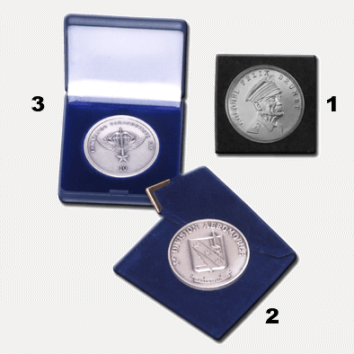FIA - Coins - Packaging - Transparent acrylic box, velvet pouch and jewelery plastics box
