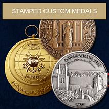 FIA - Stamped Custom Medals - Artistic Bronze Medals Creation.