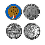 """FIA - Coins of 42mm/1.7"""" diameter : Face & Back"""